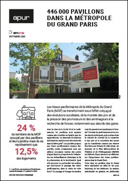 Couverture - 446000 pavillons dans la Métropole du Grand Paris © Apur