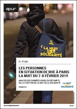 Couverture - Les personnes en situation de rue à Paris la nuit du 7-8 février 2019 - Analyse des données issues du décompte de la 2e édition de la nuit de la solidarité © Apur