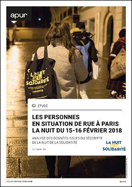 Couverture - Les personnes en situation de rue à Paris, la nuit du 15-16 février 2018 © Apur