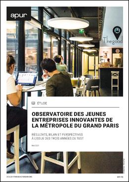 Couverture - Observatoire des jeunes entreprises innovantes de la Métropole du Grand Paris - Résultats, bilan et perspectives à l'issue des trois années de test © Apur