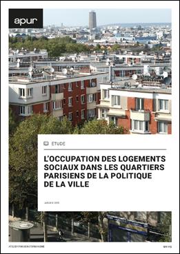 Couverture - L'occupation des logements sociaux dans les Quartiers Parisiens de la politique de la Ville © Apur