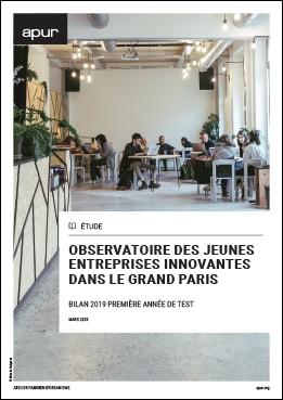 Couverture - Observatoire des jeunes entreprises innovantes dans le Grand Paris : bilan 2019, première année de test © Apur