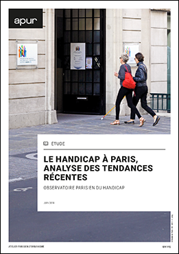"""Couverture étude """"Le handicap à Paris, analyse des tendances récentes"""" © Apur"""