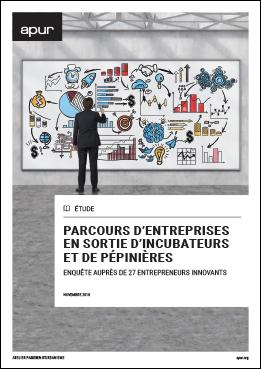 Couverture - Parcours d'entreprises en sortie d'incubateurs et de pépinières ©  Apur