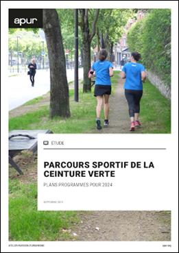 Couverture - Parcours sportif de la ceinture verte – Plans programme pour 2024 © Apur