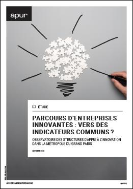 """Couverture de l'étude """"Parcours d'entreprises innovantes : vers des indicateurs communs ?"""" © Apur"""
