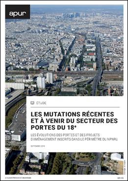 Couverture - Les mutations récentes et à venir du secteur des portes du 18e © Apur
