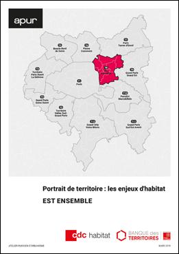 Couverture - Les enjeux de l'habitat - Portrait du territoire Est Ensemble © Apur