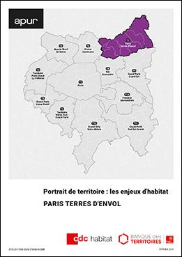 Couverture - Les enjeux de l'habitat - Portrait du territoire Paris Terres d'Envol © Apur