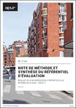 Couverture - Référentiel d'évaluation du contrat de ville de Paris 2015-2020 © Apur