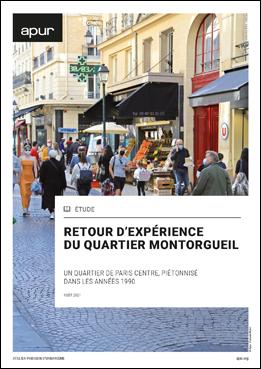 Couverture - Retour d'expérience du quartier Montorgueil - Un quartier de Paris centre, piétonnisé dans les années 1990 © Apur