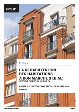 Couverture - La réhabilitation des habitations à bon marché (H.B.M.) - Vers une évolution «durable» © Apur