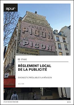 Couverture - Règlement local de la publicité - Diagnostic préalable à la révision © Apur