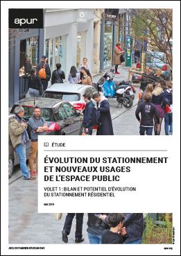 Couverture - Évolution du stationnement et nouveaux usages de l'espace public - volet 1 © Apur