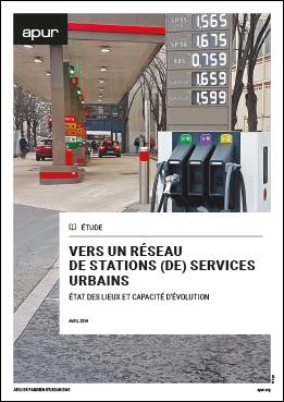 Couverture – Vers un réseau de stations (de) services urbains © Apur