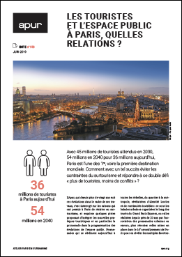 Couverture - Les touristes et l'espace public à Paris, quelles relations? © Apur