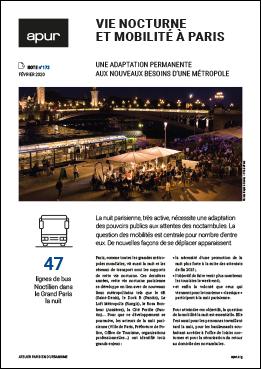 Couverture - Vie nocturne et mobilité à Paris © Apur