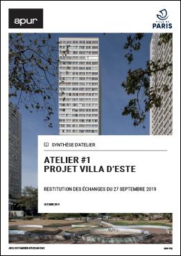 Couverture - Atelier #1 - Projet Villa d'Este © Apur