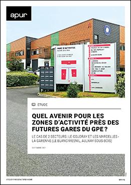 Couverture - Quel avenir pour les zones d'activité près des futures gares du GPE? © Apur