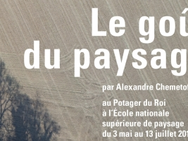 """Affiche biennale """"Le goût du paysage"""""""