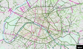 Existing and planned cycling facilities in Paris - March 2021 © Apur