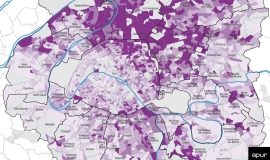 Level of overcrowded housing in Greater Paris - Grand Paris Metropolis - © Apur
