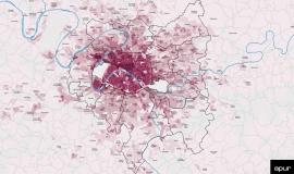 Densité humaine (population + emplois salariés) dans la Métropole du Grand Paris © Apur