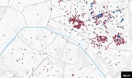 Les immeubles traités dans le cadre de la lutte contre l'habitat indigne à Paris de 2002 à 2018 © Apur