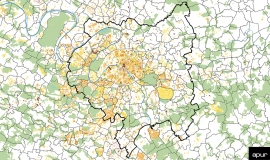 Les zones de circulation limitée à l'échelle de la métropole du Grand Paris © Apur