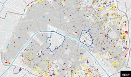 Les bailleurs des logements sociaux à Paris au sens de la loi SRU © Apur