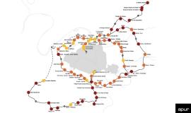Les gains d'accessibilité aux emplois dans le Grand Paris à l'horizon 2030 © Apur