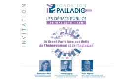 "Débate ""Grand Paris faced with the challenges of housing and inclusion"" @ fondation palladio"