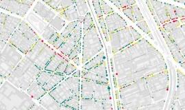 Extrait de la datavisualisation : structure et évolutions commerciales des arrondissements parisiens © Apur