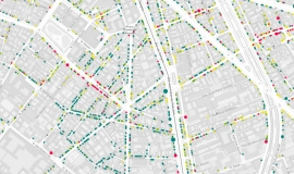 Datavisualisation extract: The commercial structure and its development in Parisian districts © Apur