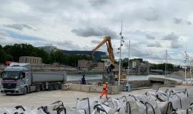 Plateforme Cemex, Port de Tolbiac, Paris 13e © Apur
