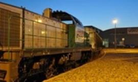 Arrivée du convoi ferroviaire VFLI sur le site SAMADA Bercy