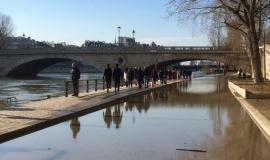 Quai des Célestins – Crue de la Seine en février 2018 © Apur - JC Bonijol