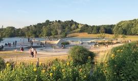 La vallée ludique dans le parc Georges-Valbon © Apur