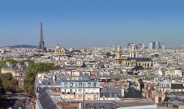 Point de vue depuis le 20e arrondissement vers la Défense © Apur - François Mohrt