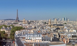 Point de vue depuis le 20e arrondissement vers la Défense © Apur