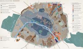 Le Schéma d'aménagement et d'urbanisme (SDAU) de la Ville de Paris approuvé par décret du 17 mars 1977 © Ville de Paris