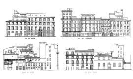 Rome - Exemples de façades © Apur