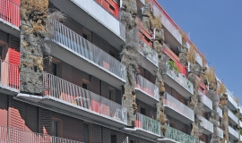 Rue de la Croix Nivert Immeuble de 130 logements sociaux pour la RIVP et d'une crèche 66 berceaux - RIVP - agence Fair © Apur