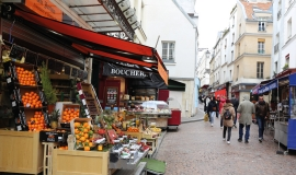 Parisian shops, rue Mouffetard, Paris 5th district © Apur