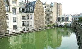 Vue du réservoir d'eau non potable de Passy à Paris © Apur
