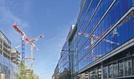 Vue sur des immeubles de bureaux © Mairie de Paris - DU - MCC - J. Leroy