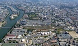 Vue aérienne sur le territoire de Plaine Commune © ph.guignard@air-images.net