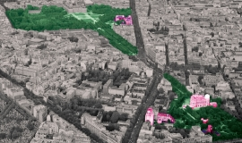 Vue sur les sites de l'Ecole des Mines ParisTech et l'Observatoire de Paris-Meudon © Ph.Guignard@air-images.net
