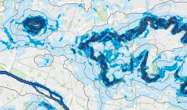 "Map extract ""Intensity of thermal breezes in the Parisian conglomeration"" © Apur"