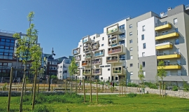 Avenue Amilcar Cabral à Saint-Denis, à proximité de la gare Stade de France, Ligne 15 Est © Apur